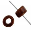 Ceramic Bead Cylinder 6X4mm Dark Brown